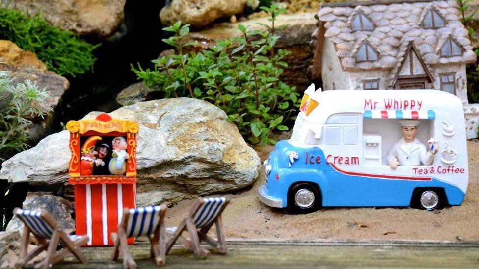 Miniature ice cream van