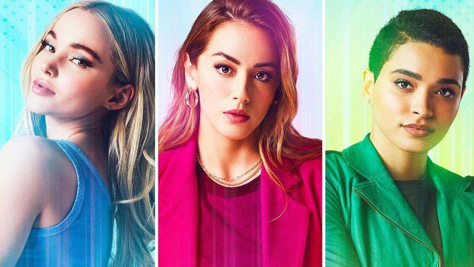 Dove Cameron, Chloe Bennett and Yana Perrault in The Powerpuff Girls