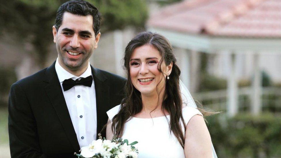 Siavash Ghafouri-Azar and his wife Sara Mamani