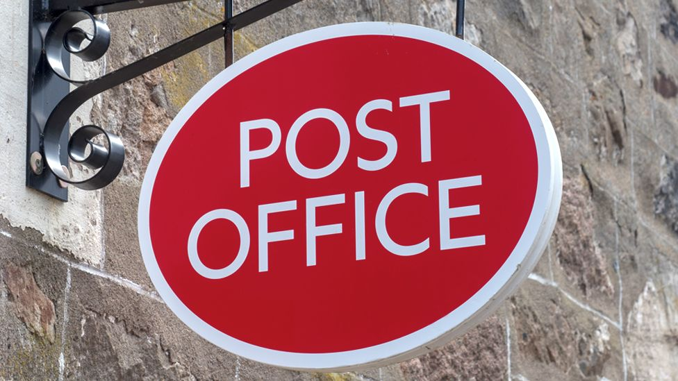 Stock image of a Post Office sign