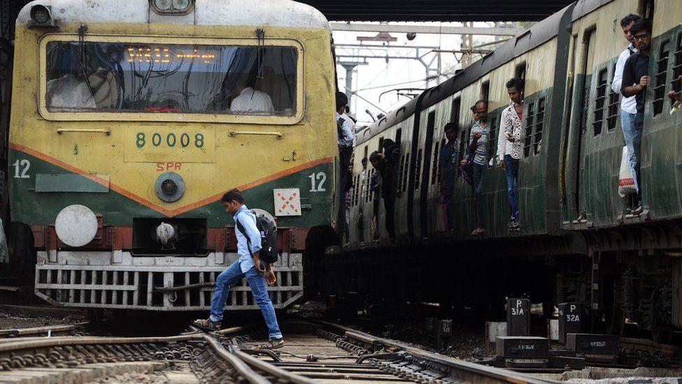 Representative image of an Indian train