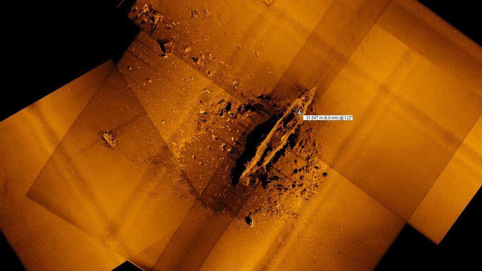 Sonar scan of the Akagi