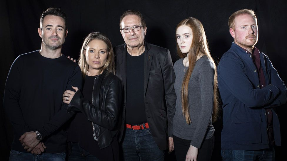 House on Cold Hill cast with author Peter James