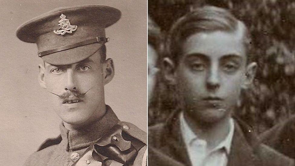 Robert Malin and Raymond Trustram, as a schoolboy