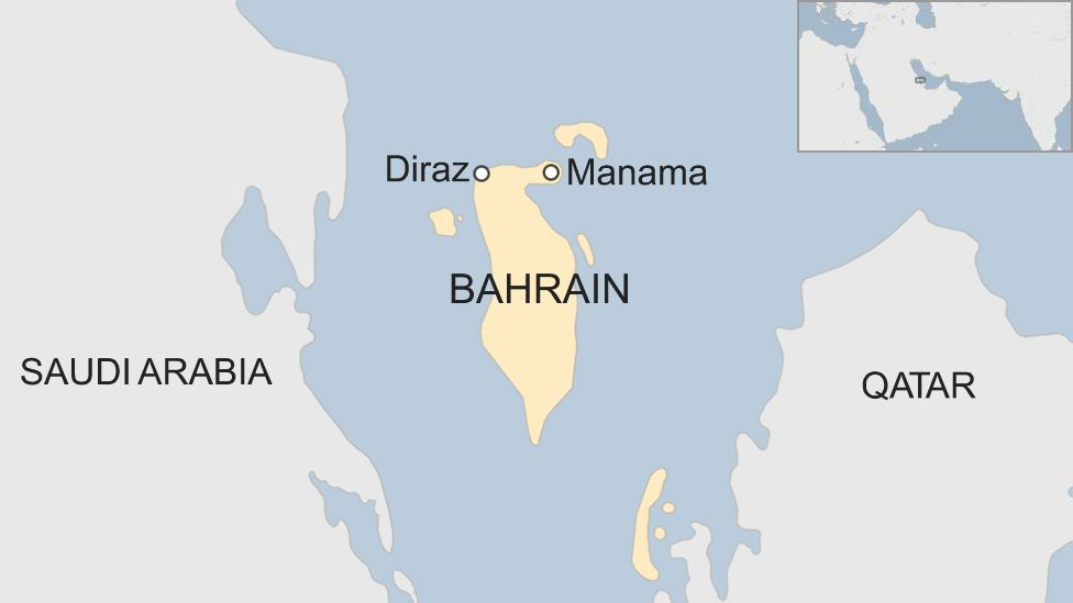 Map showing location of Diraz