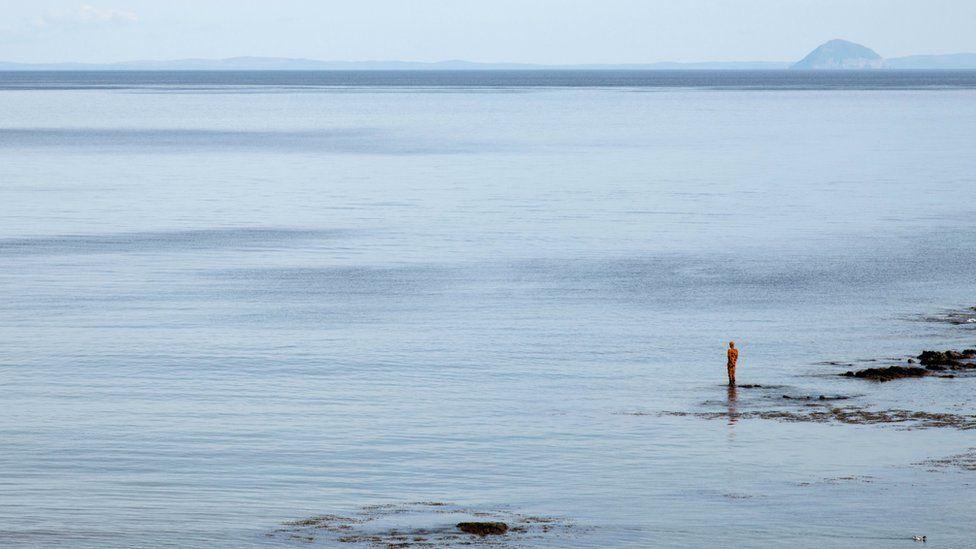 LAND at Saddell Bay by Antony Gormley for The Landmark Trust