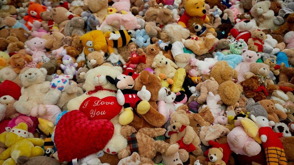 Soft toys left in tribute to Manchester Attack victims