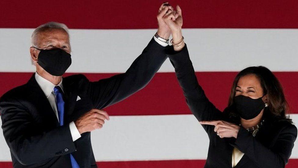 US President-elect Joe Biden (left) and Vice-President-elect Kamala Harris. File photo