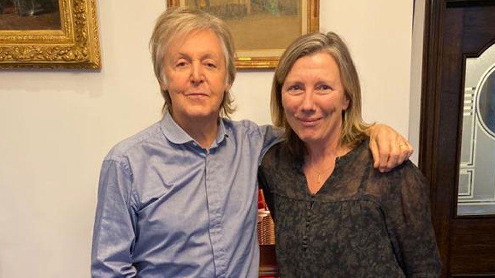 Sir Paul McCartney with Radio 4's Sarah Montague