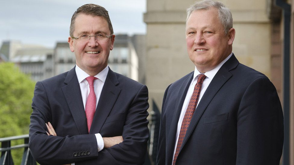 ADL chief executive Colin Robertson (left) with NFI president Paul Soubry