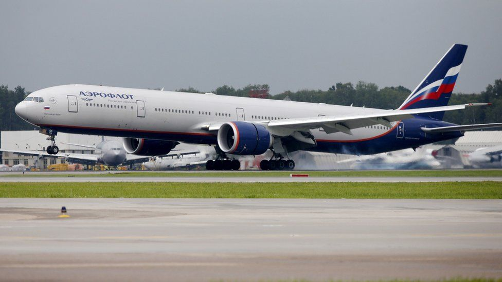 Boeing 777-300ER at Sheremetyevo International Airport outside Moscow (2015 file image)