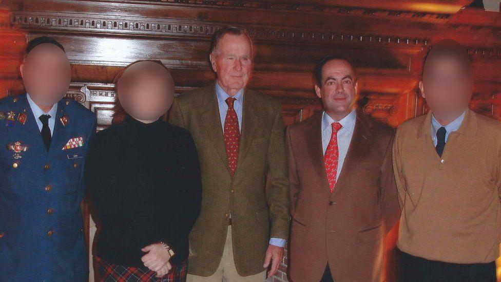 George HW Bush and Jose Bono Martinez