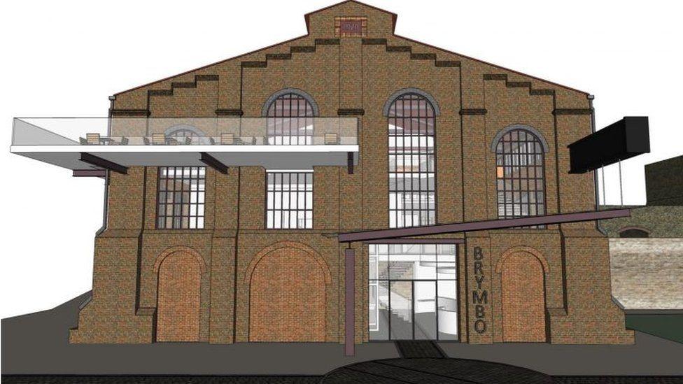 Artist impression of Machine Shop building