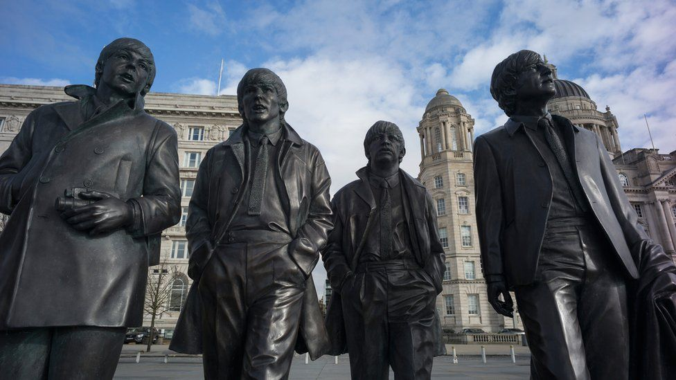 The Beatles statue Liverpool waterfront