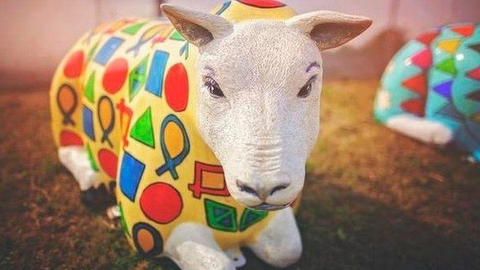 Doris the sheep sculpture