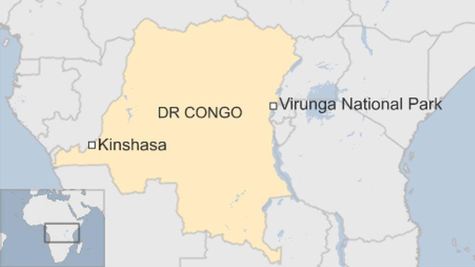 Map of the Democratic Republic of Congo