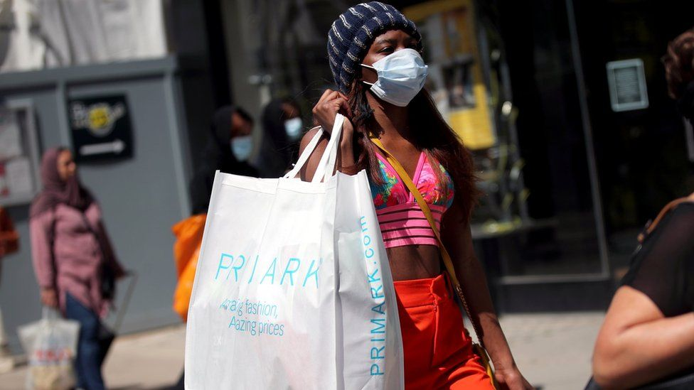 Woman with Primark bag