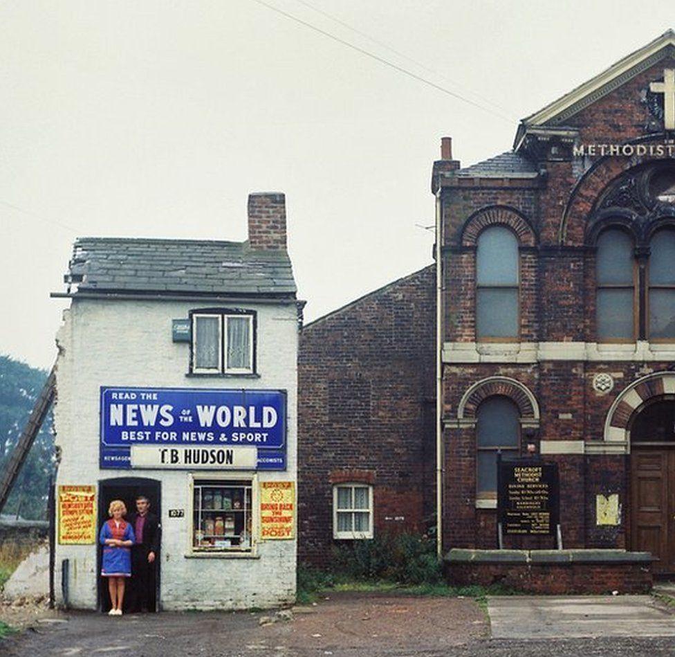 Newsagents pre-demolition