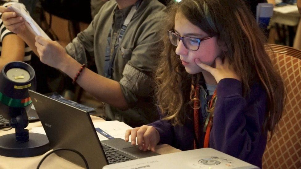 Eleven-year-old Audrey Jones was the quickest to hack one of the election websites