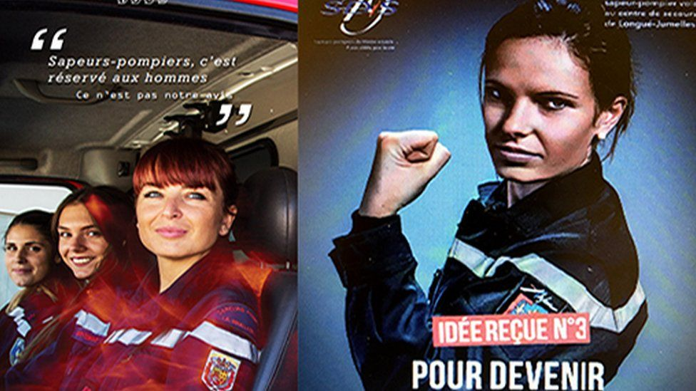 Promotion ads for women firefighters in France