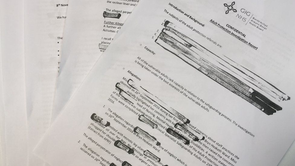 Pages from redacted investigation report
