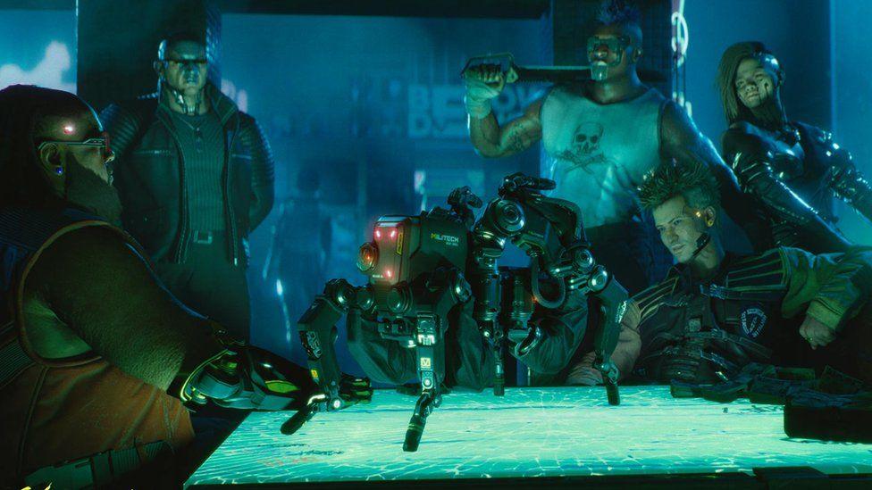 Screenshot from Cyberpunk