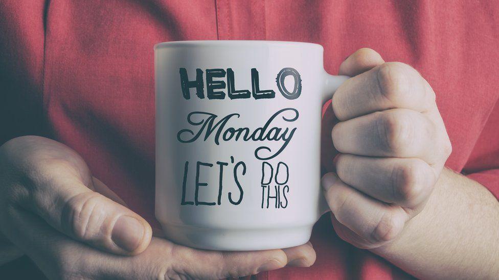 Mug with Monday written on it