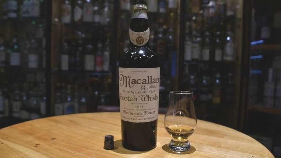 Bottle of 1878 Macallan which analysts say was a fake
