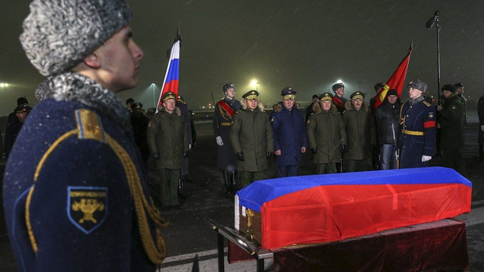 Russian pilot's coffin returns to Moscow, 30 Nov 15