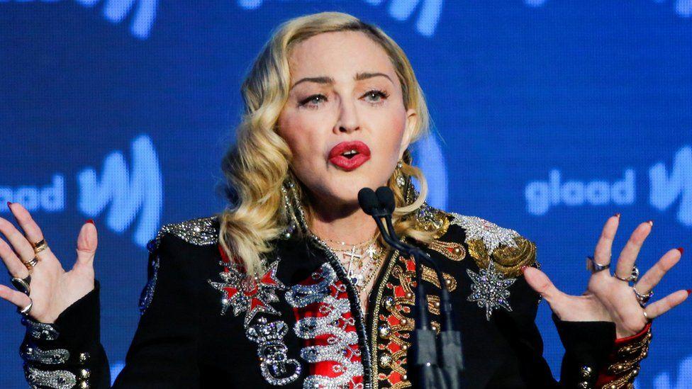 Madonna at the GLAAD awards on 4 May 2019