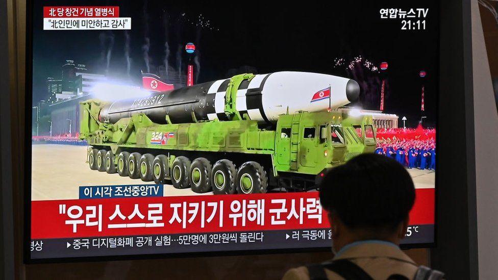 North Korea displayed military hardware at a parade in October, 2020
