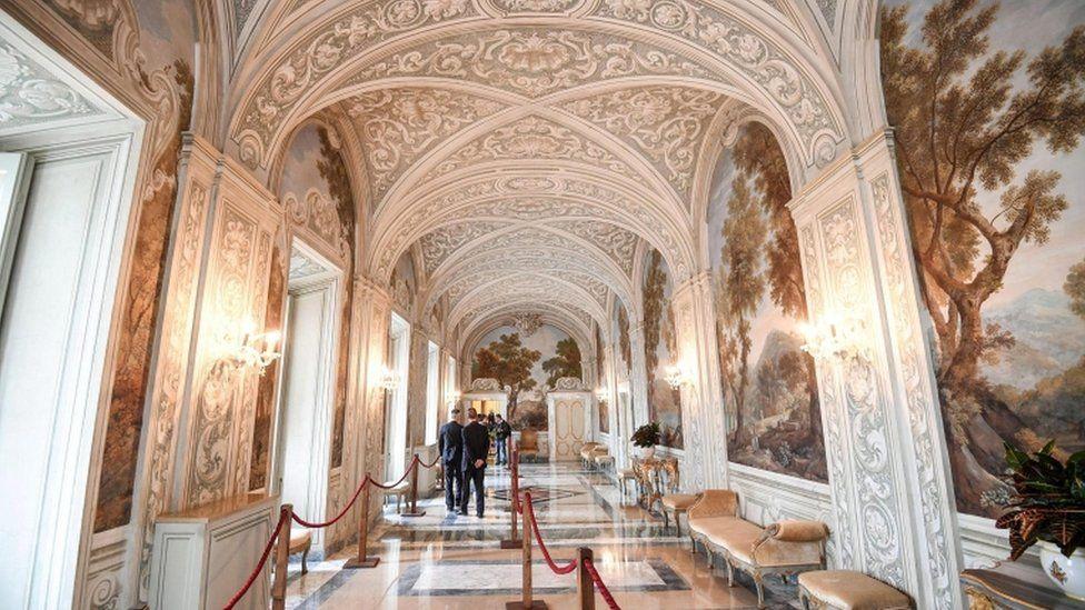 A large portrait gallery