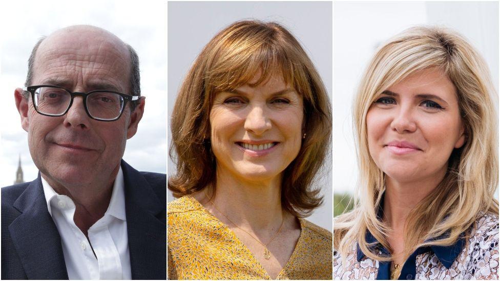 Nick Robinson, Fiona Bruce and Emma Barnett