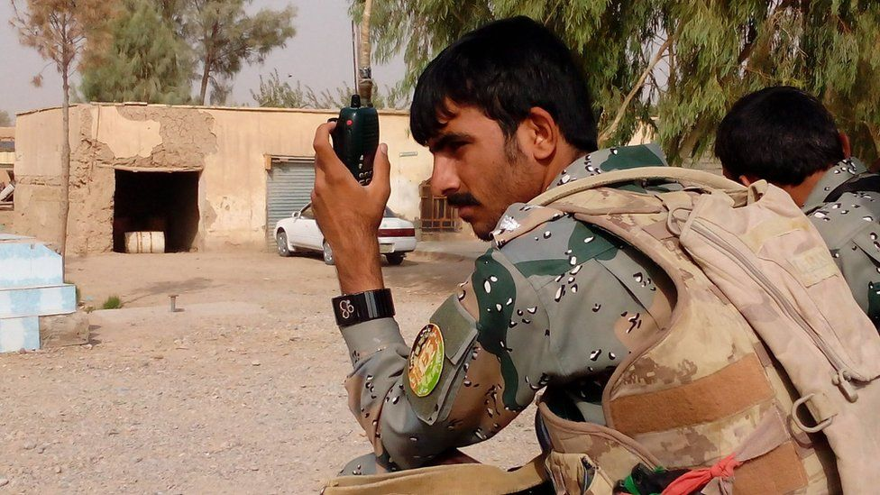 A member of the Border Police battalion based in Bolan