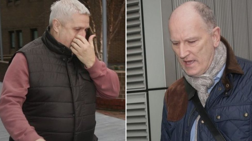 Paul Sugrue (left) and Mark Aizlewood arriving at court