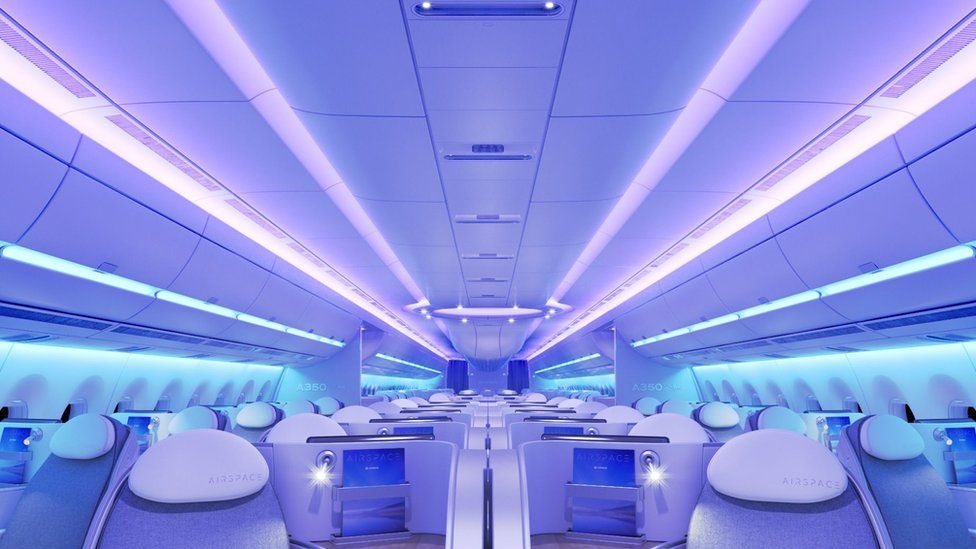 Airbus A350 XWB airspace cabin concept
