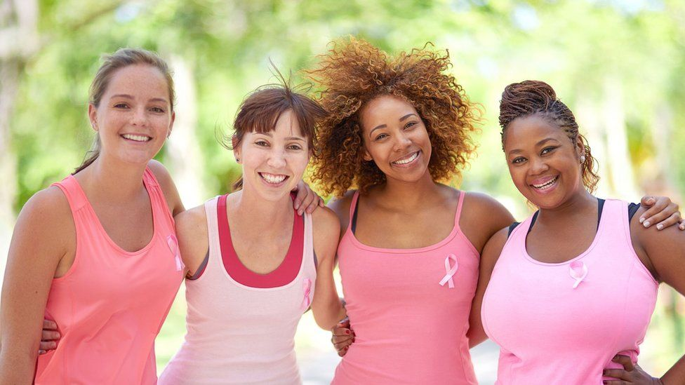 Breast cancer awareness campaigners