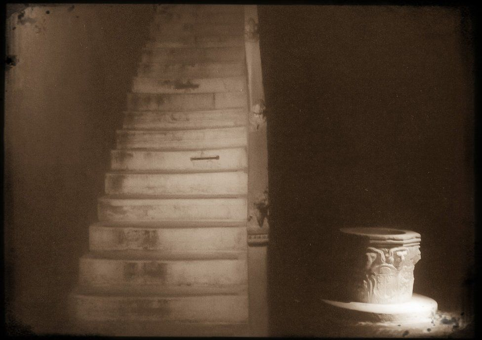 Stairs shot in sepia