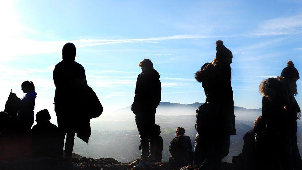 People on the summit of Arthur's seat