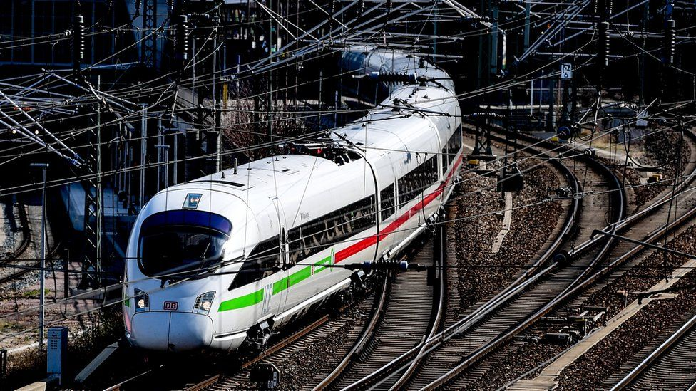 A German high-speed train