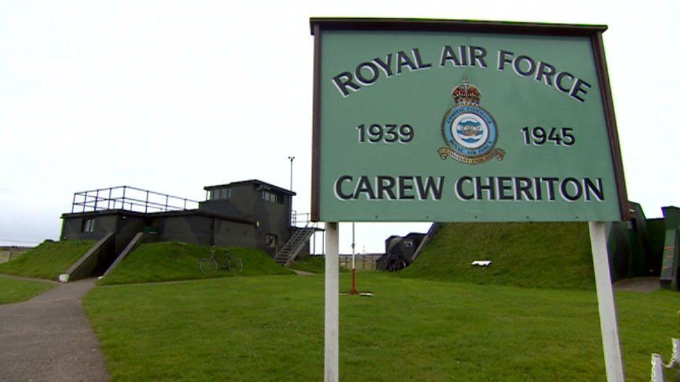 Former World War II control tower at Carew Cheriton