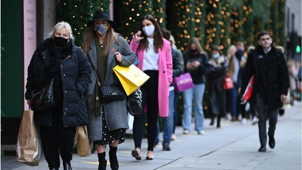 There were queues outside Selfridges in London