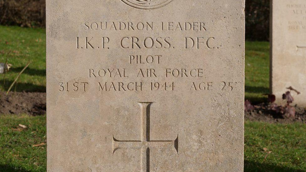 Ian Cross' tomb
