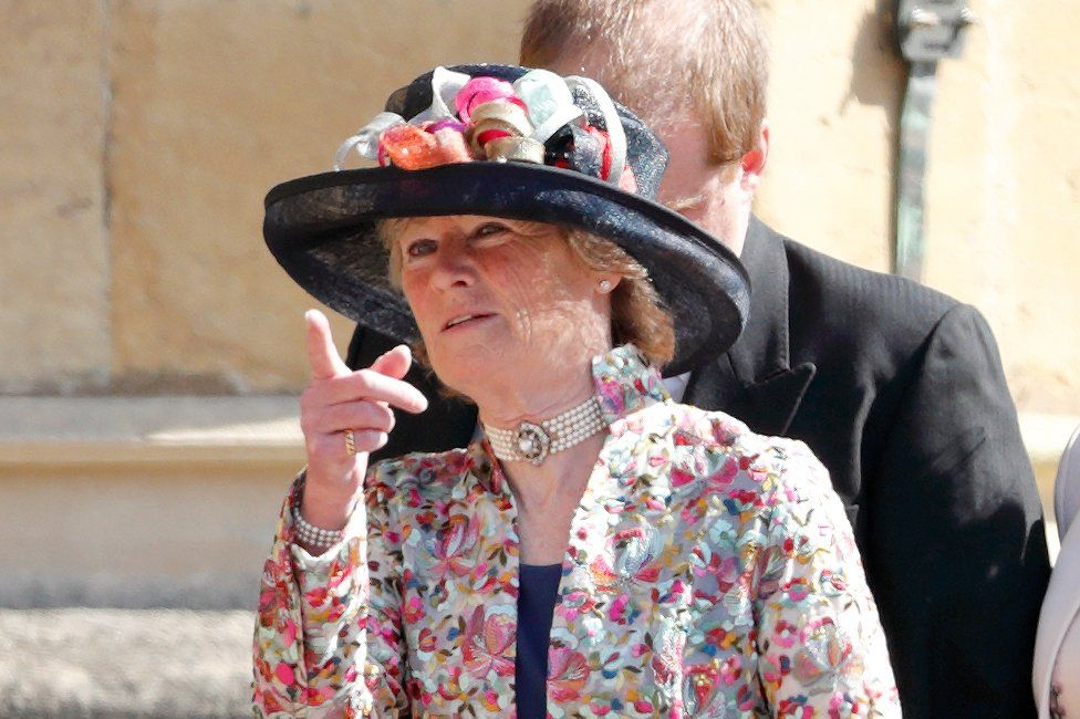 Lady Sarah McCorquodale at the wedding of Prince Harry and Meghan Markle