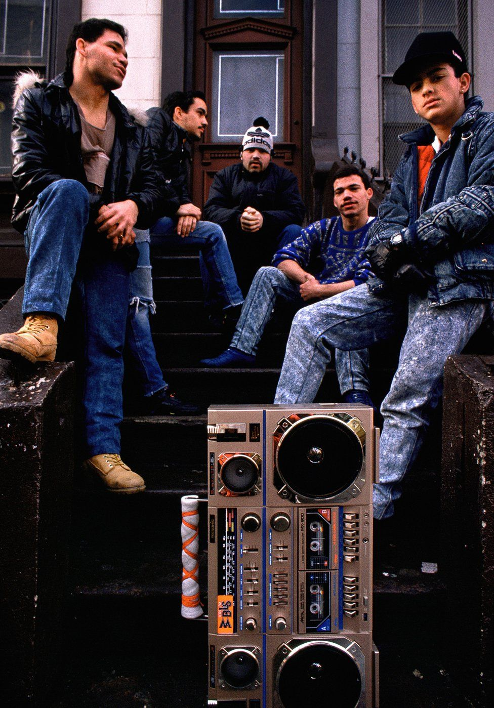 A group on the stoop