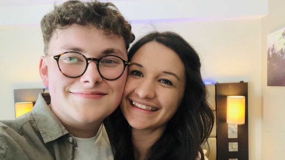 Georgia posing with her boyfriend Laurence