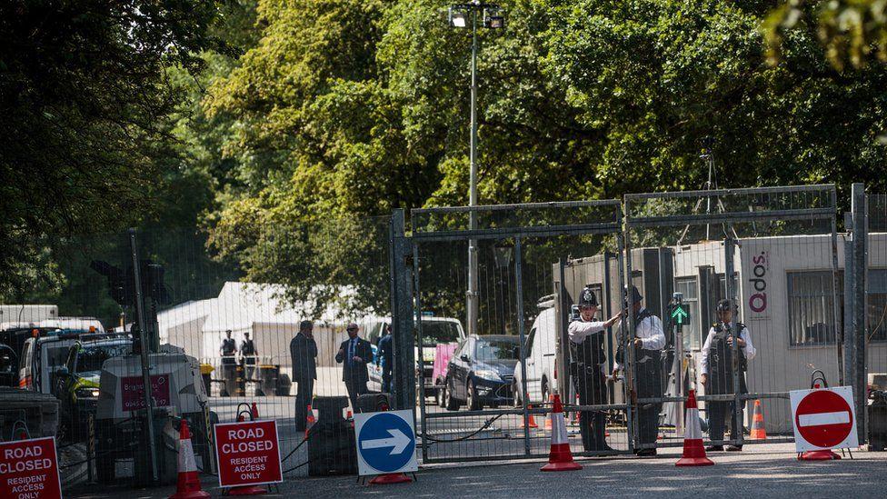 Security gates in Regent's Park
