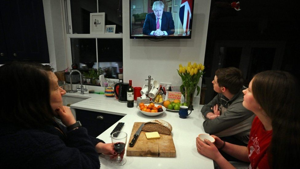 People watching the PM's address