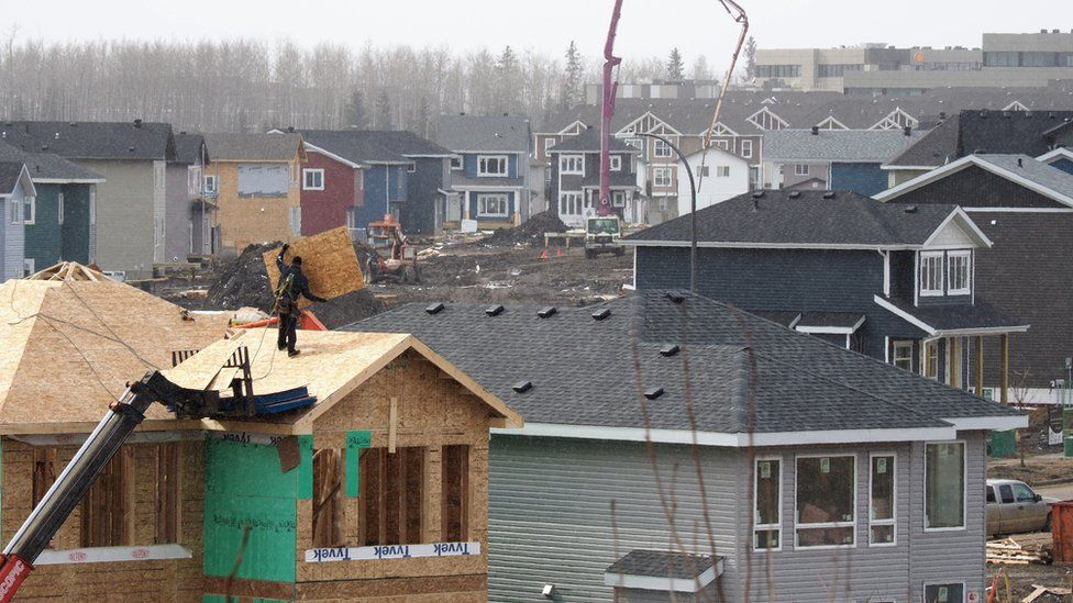 Homes are being rebuilt in Fort McMurray one year after a devastating fire, April 18, 2017 in Fort McMurray, Canada.