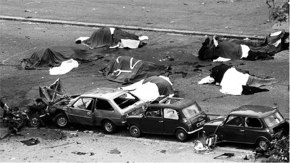 The aftermath of the Hyde Park attack